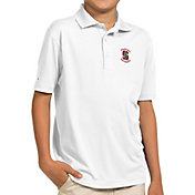 Antigua Youth Stanford Cardinal White Pique Polo