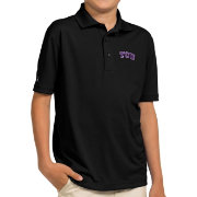 Antigua Youth TCU Horned Frogs Black Pique Polo