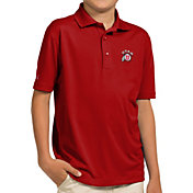 Antigua Youth Utah Utes Crimson Pique Polo
