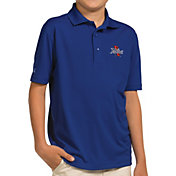 Antigua Youth Tulsa Golden Hurricane Blue Pique Polo