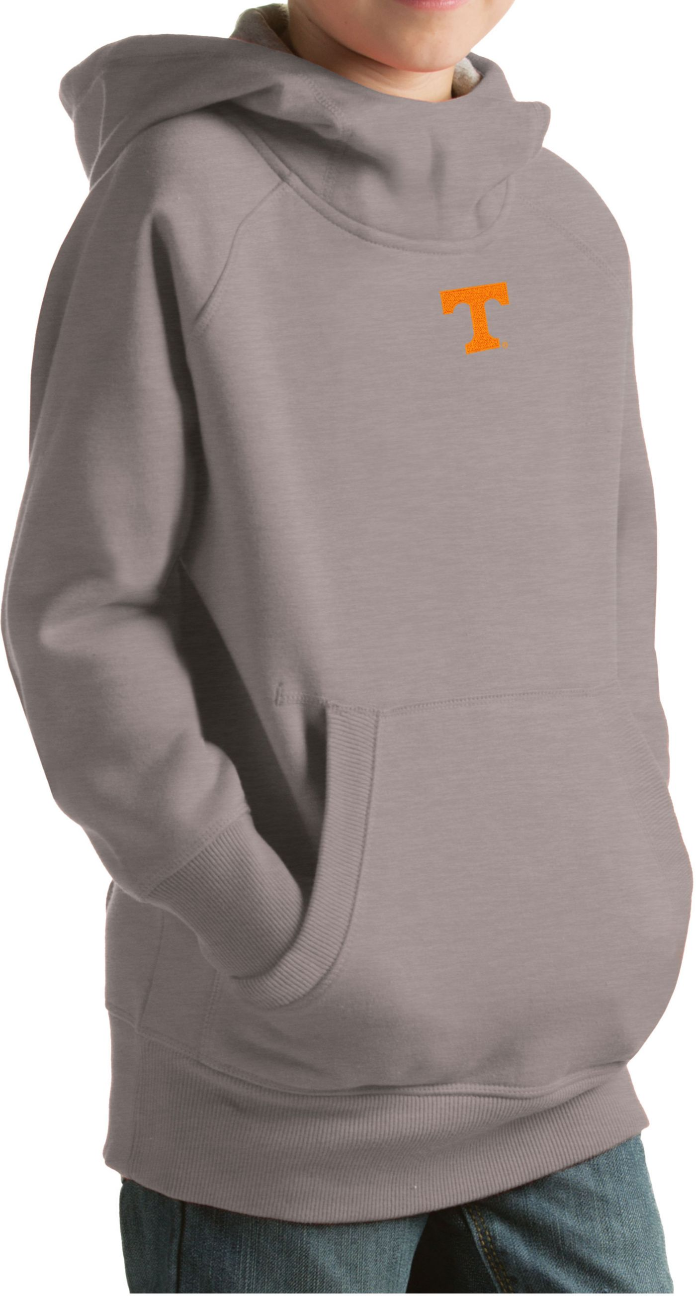 Antigua Youth Tennessee Volunteers Gray Victory Pullover Hoodie