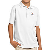 Antigua Youth Virginia Cavaliers White Pique Polo