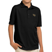 Antigua Youth Wake Forest Demon Deacons Black Pique Polo