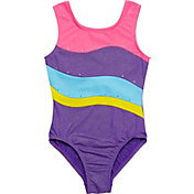 Jacques Moret Girls' Handspring Stars Colorblocked Leotard