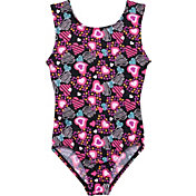 Jacques Moret Girls' Heart Shapes Printed Leotard