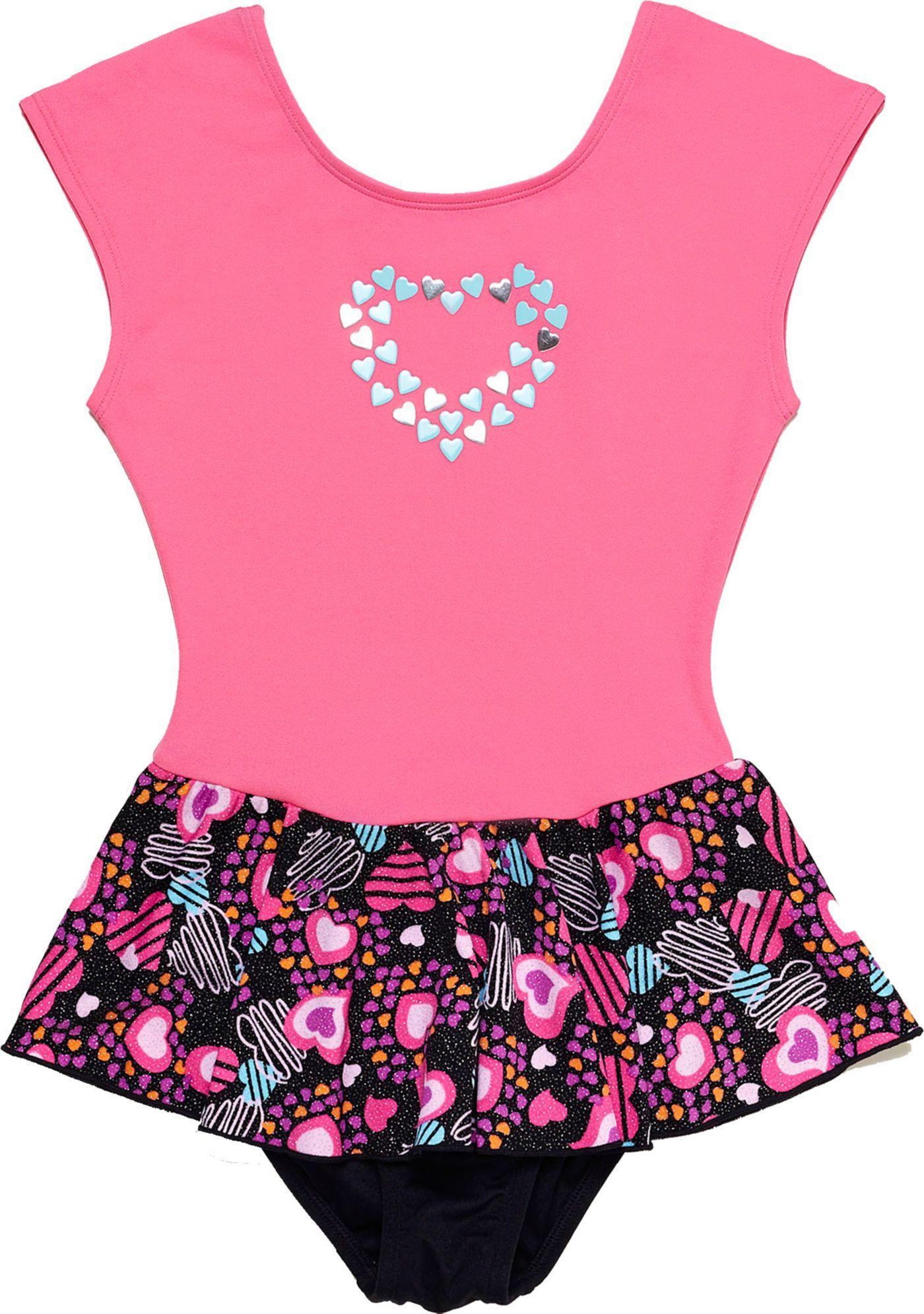 Jacques Moret Girls' Heart Shapes Extended Sleeve Skirtall
