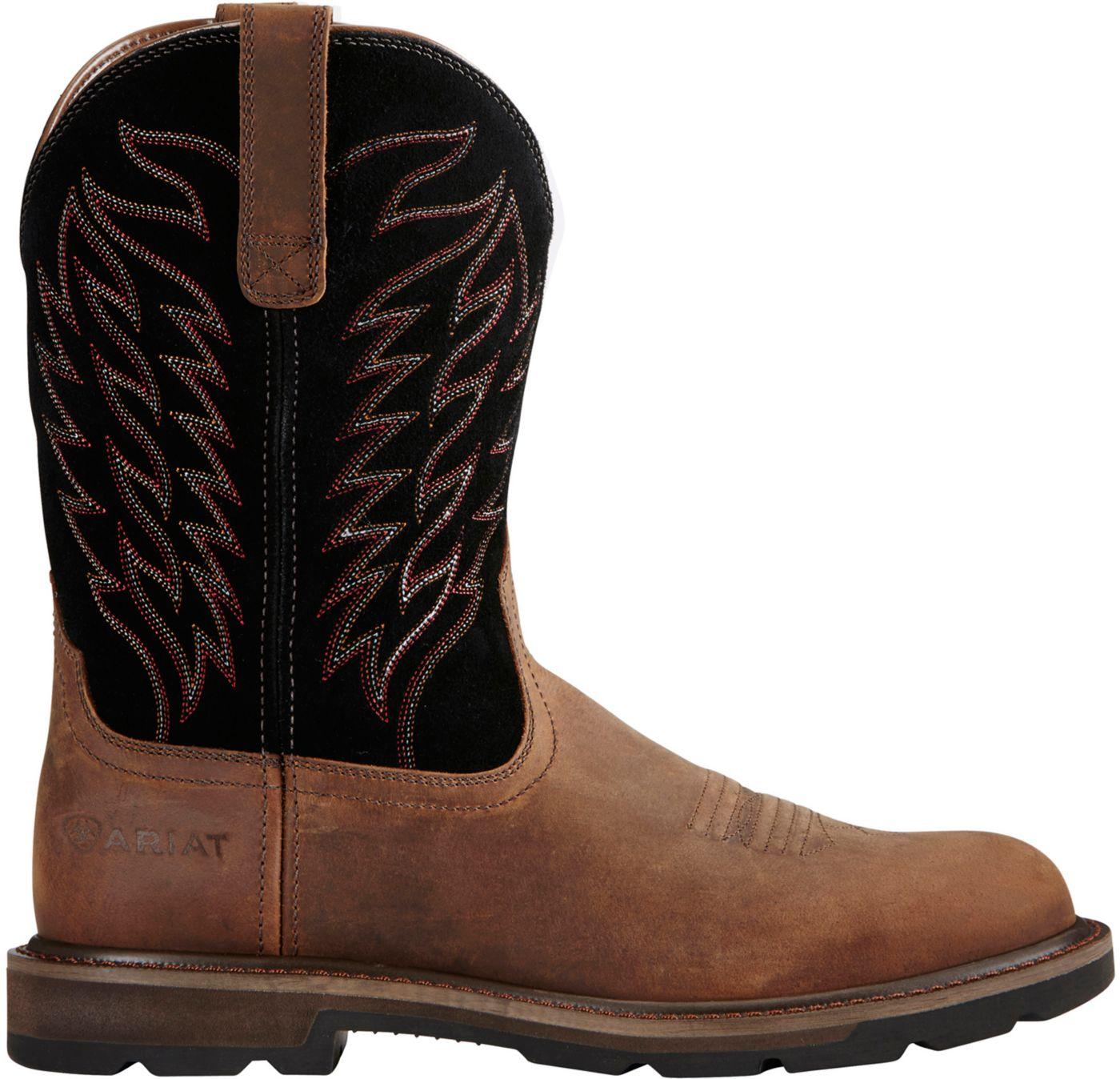 Ariat Men's Groundbreaker Steel Toe Western Work Boots