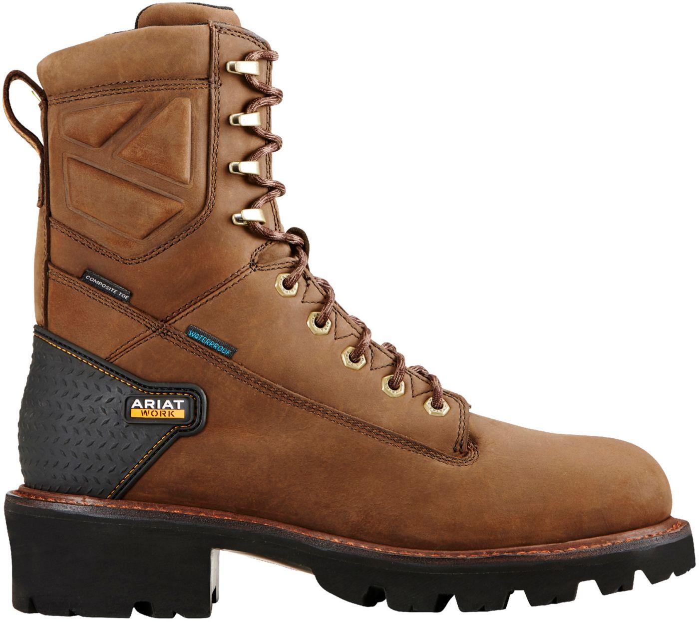 Ariat Men's Powerline 8'' H2O Waterproof Composite Toe Work Boots
