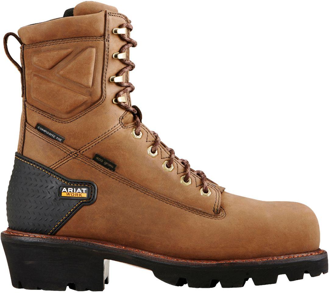 67388da4af4 Ariat Men's Powerline 8'' H2O 400g Waterproof Composite Toe Work Boots
