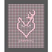 Browning Buckheart Pink Check Throw Blanket
