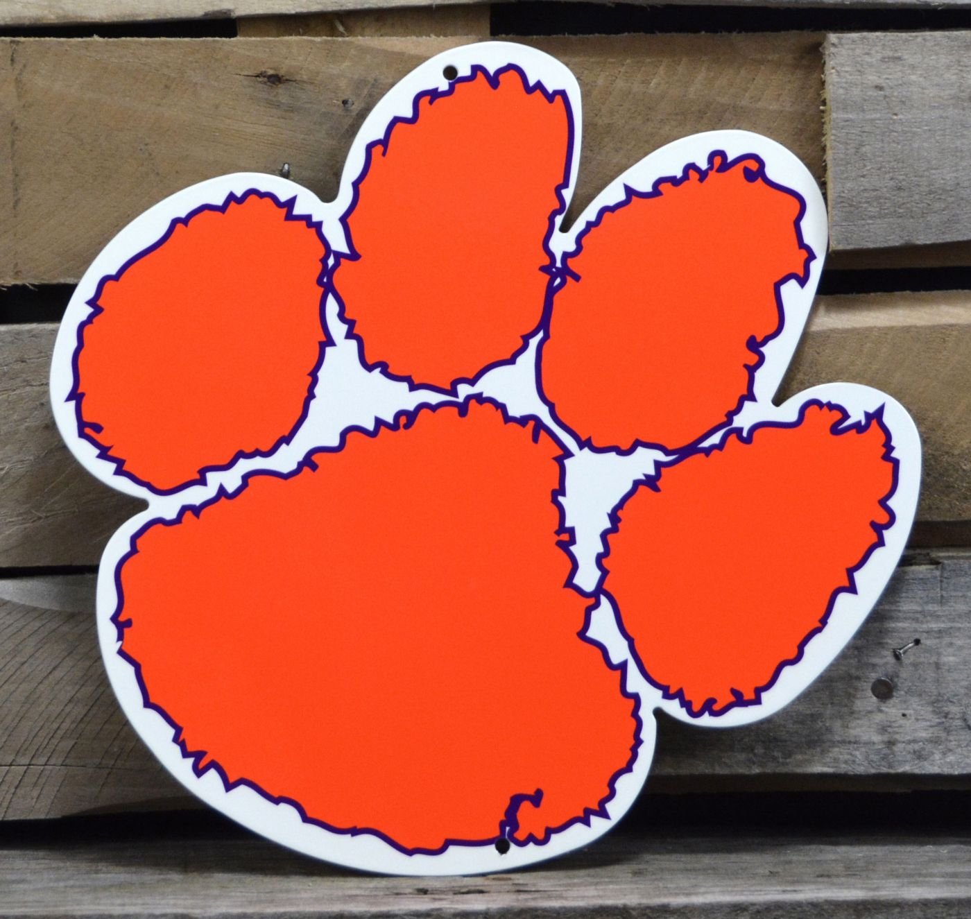 Authentic Street Signs Clemson Tigers Steel Logo Sign