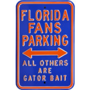 Authentic Street Signs Florida Gators Parking Sign