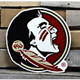 Authentic Street Signs Florida State Seminoles Steel Logo Sign
