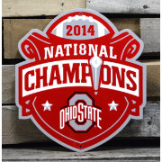Authentic Street Signs Ohio State Buckeyes 2014 National Champions Steel Sign
