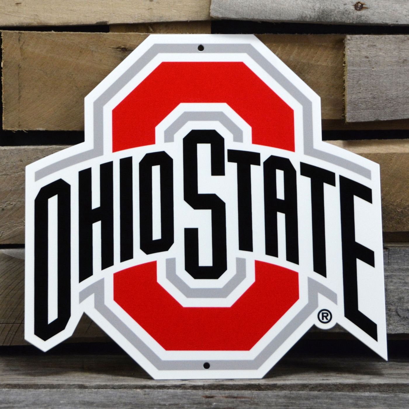 Authentic Street Signs Ohio State Buckeyes Steel Logo Sign