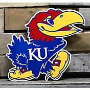 Authentic Street Signs Kansas Jayhawks Steel Logo Sign