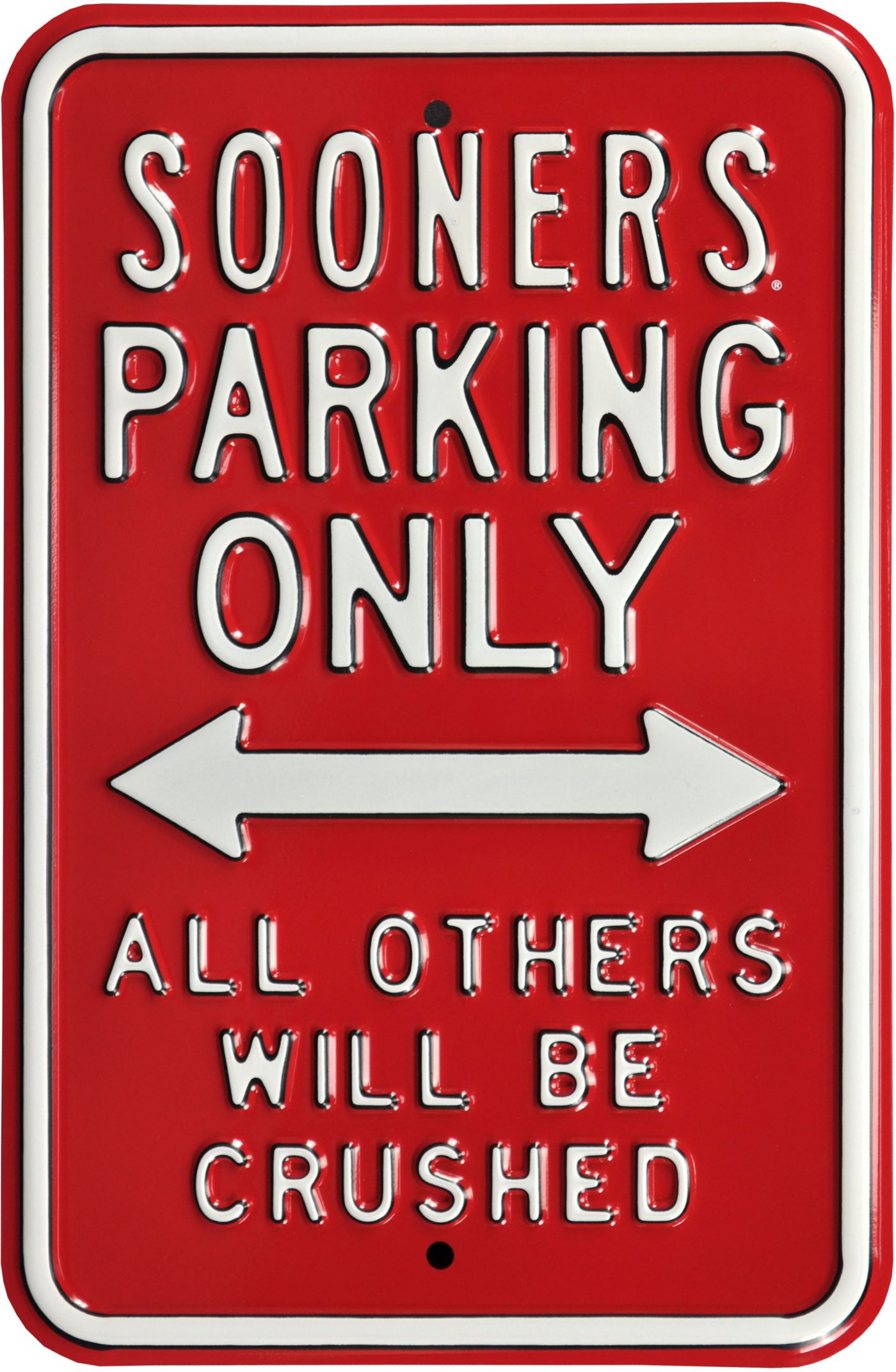 Authentic Street Signs Oklahoma Sooners Parking Sign