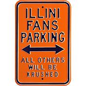 Authentic Street Signs Illinois Fighting Illini Parking Sign