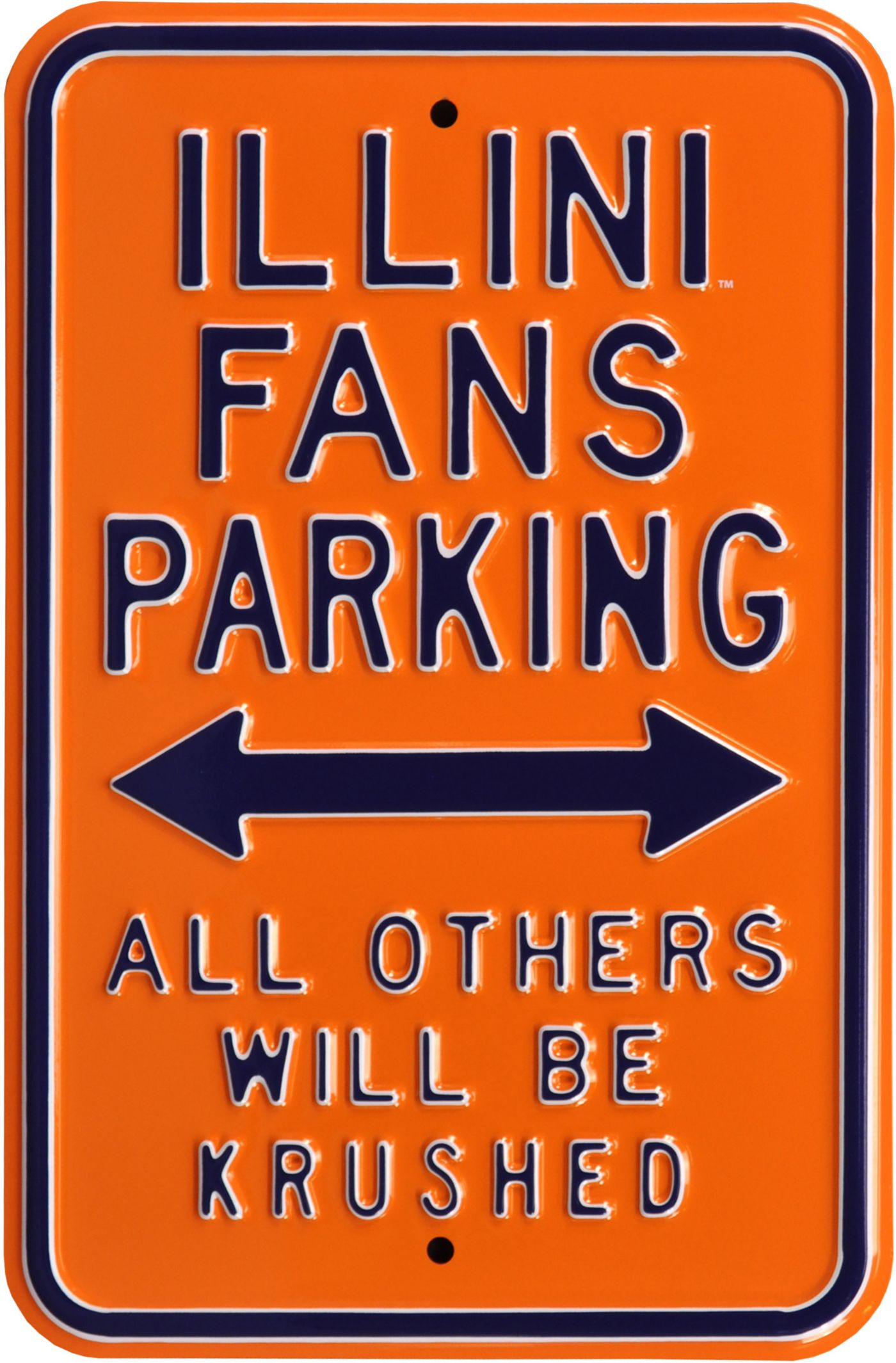 Authentic Street Signs Illinois Fighting Illini Parking Sign