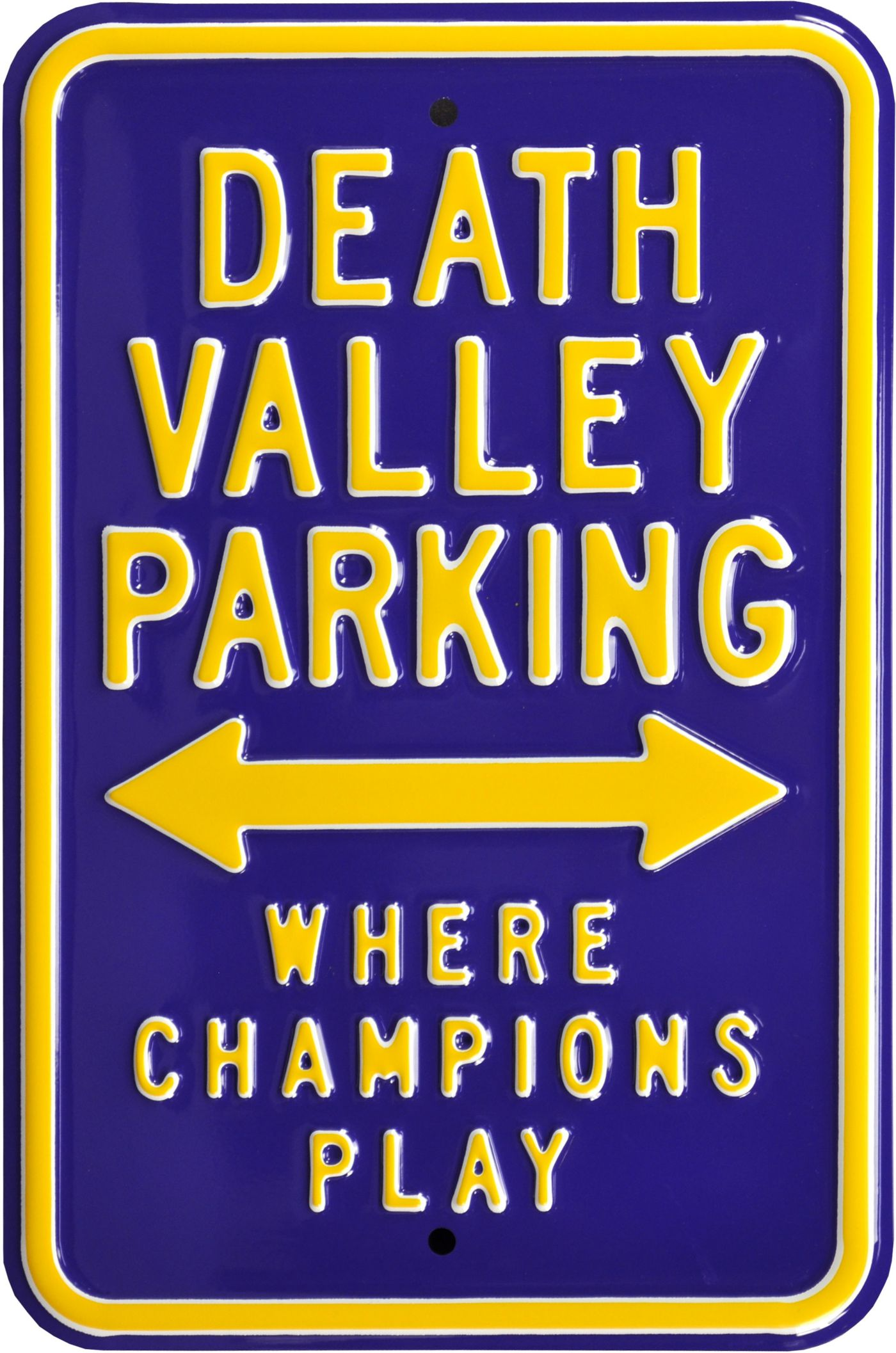 Authentic Street Signs LSU Tigers Death Valley Parking Sign