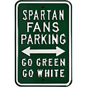 Authentic Street Signs Michigan State Spartans Fans Parking Sign
