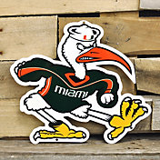 Authentic Street Signs Miami Hurricanes Steel Mascot Sign