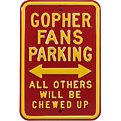Authentic Street Signs Minnesota Golden Gophers Parking Sign
