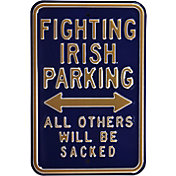 Authentic Street Signs Notre Dame Fighting Irish Parking Sign