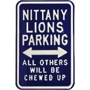 Authentic Street Signs Penn State Nittany Lions Parking Sign