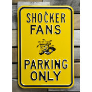 Authentic Street Signs Wichita State Shockers Parking Sign