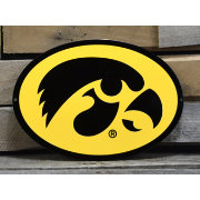 Authentic Street Signs Iowa Hawkeyes Steel Logo Sign