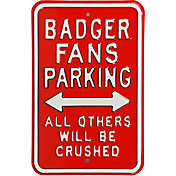 Authentic Street Signs Wisconsin Badgers Parking Sign