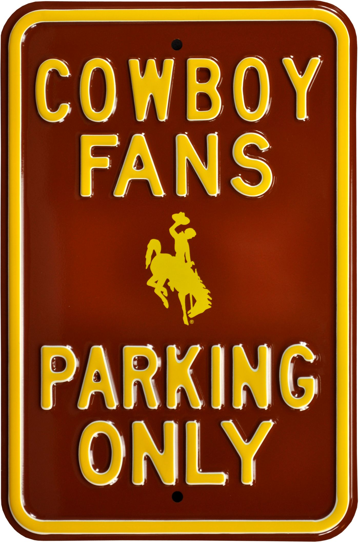 Authentic Street Signs Wyoming Cowboys Fans Parking Sign