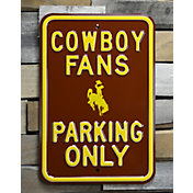 Authentic Street Signs Wyoming Cowboys Parking Sign
