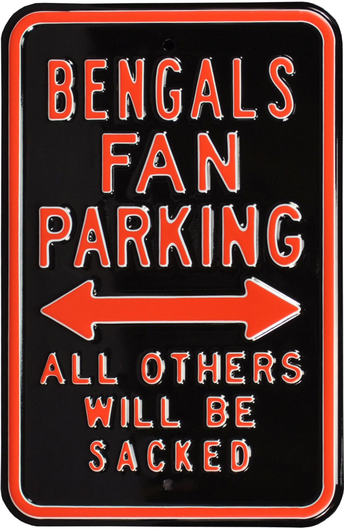 Authentic Street Signs Cincinnati Bengals Parking Sign
