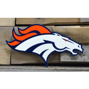 Authentic Street Signs Denver Broncos Steel Logo Sign