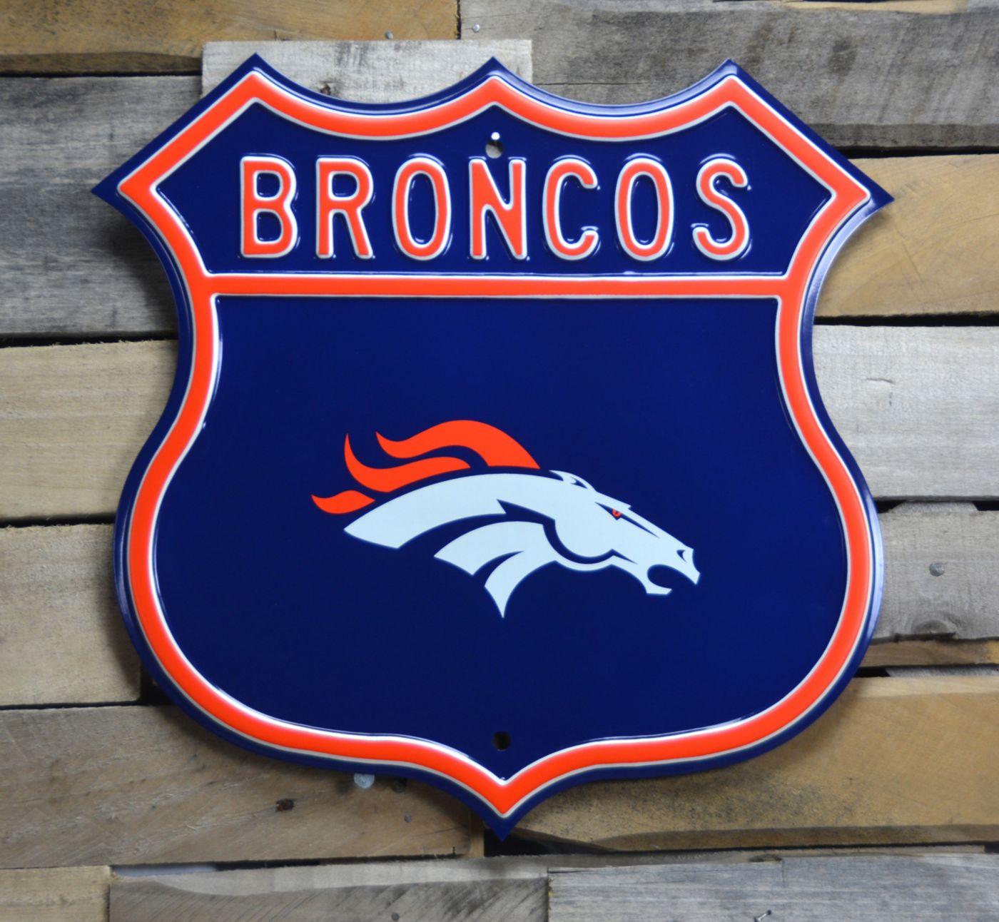 Authentic Street Signs Denver Broncos Route Sign