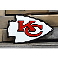 Authentic Street Signs Kansas City Chiefs Steel Logo Sign