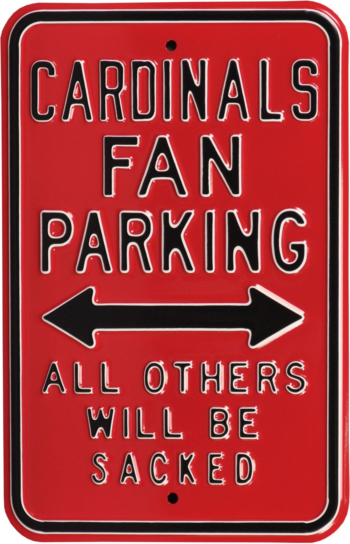 Authentic Street Signs Arizona Cardinals Parking Sign