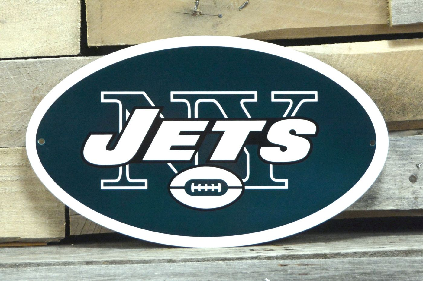 Authentic Street Signs New York Jets Steel Logo Sign