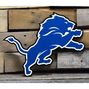 Authentic Street Signs Detroit Lions Steel Logo Sign
