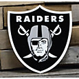 Authentic Street Signs Oakland Raiders Steel Logo Sign