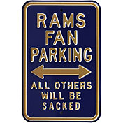 Authentic Street Signs Los Angeles Rams Parking Sign