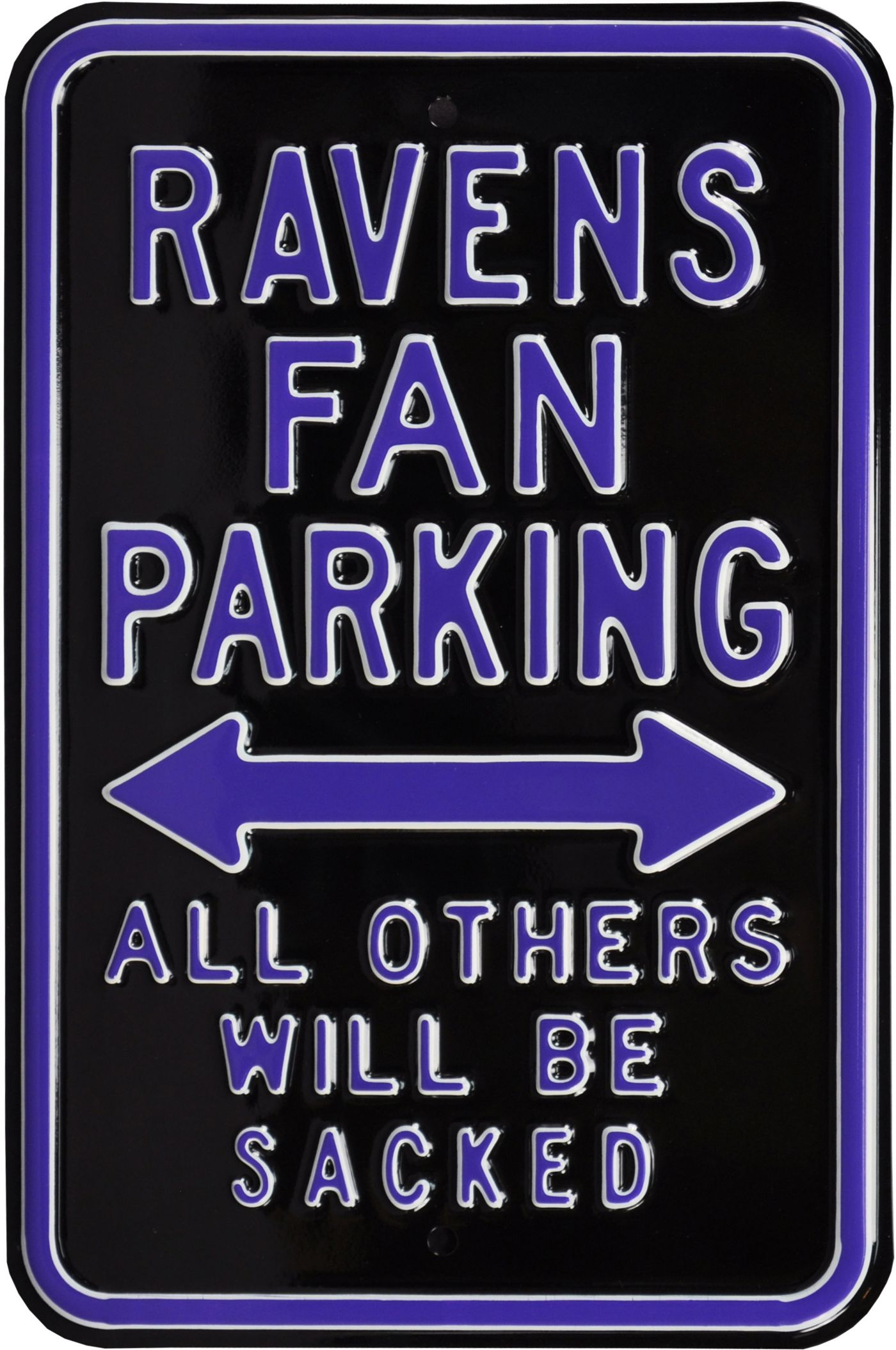 Authentic Street Signs Baltimore Ravens Parking Sign