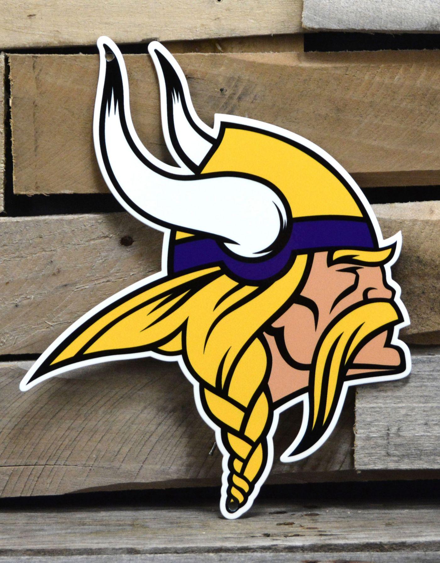 Authentic Street Signs Minnesota Vikings Steel Logo Sign