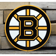 Authentic Street Signs Boston Bruins Steel Logo Sign