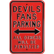 Authentic Street Signs New Jersey Devils Parking Sign