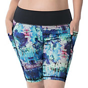 Rainbeau Curves Women's Plus Size Vivien Print Bike Shorts