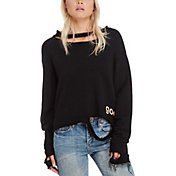 good hYOUman Women's Blaise Distressed Crewneck Sweatshirt