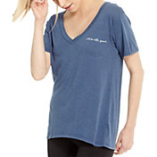 good hYOUman Women's Aiden It's All Good V-Neck T-Shirt